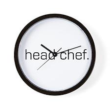 Head Chef Wall Clock