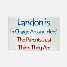 Landon Is In Charge Rectangle Magnet (10 pack)