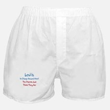 Levi Is In Charge  Boxer Shorts