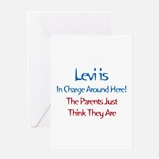 Levi Is In Charge Greeting Card