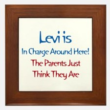 Levi Is In Charge  Framed Tile