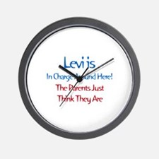 Levi Is In Charge  Wall Clock