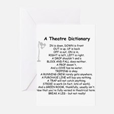 A Theatre Dictionary Greeting Cards