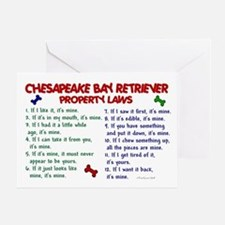 Chesapeake Bay Retriever Property Laws 2 Greeting