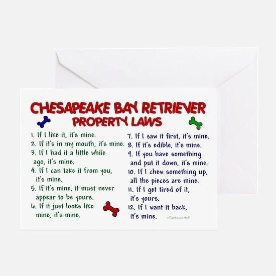 Chesapeake Bay Retriever Property Laws 2 Greeting