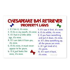 Chesapeake Bay Retriever Property Laws 2 Postcards