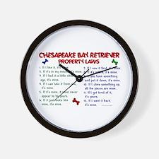Chesapeake Bay Retriever Property Laws 2 Wall Cloc