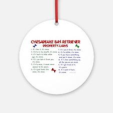 Chesapeake Bay Retriever Property Laws 2 Ornament