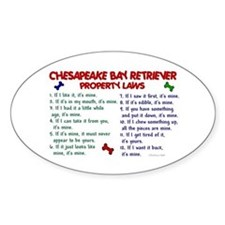 Chesapeake Bay Retriever Property Laws 2 Decal