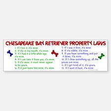Chesapeake Bay Retriever Property Laws 2 Bumper Bumper Sticker