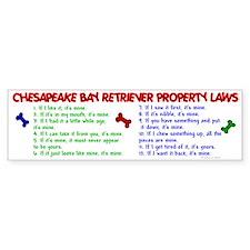 Chesapeake Bay Retriever Property Laws 2 Bumper Sticker