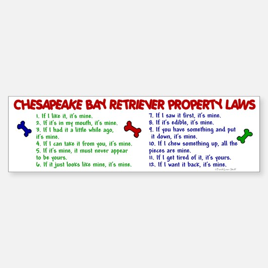 Chesapeake Bay Retriever Property Laws 2 Car Car Sticker