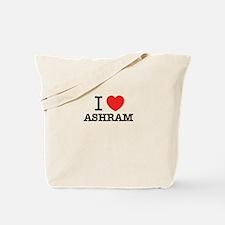 I Love ASHRAM Tote Bag