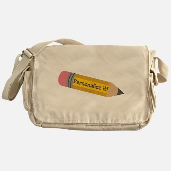 PERSONALIZED Cute Pencil Messenger Bag
