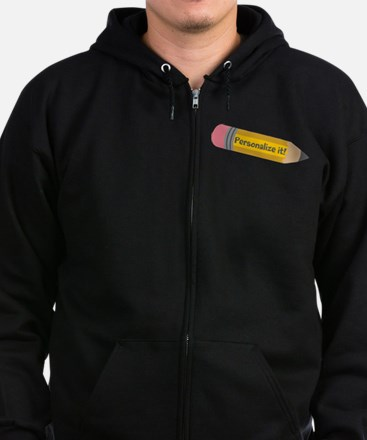 PERSONALIZED Cute Pencil Zip Hoodie