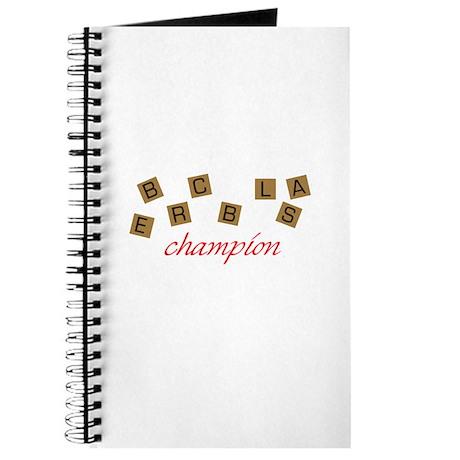 Scrabble Champion Journal