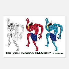Evolution of Dancing King David Postcards (Package