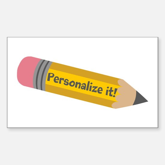 PERSONALIZED Cute Pencil Bumper Stickers