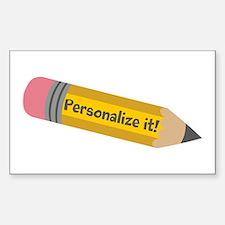 PERSONALIZED Cute Pencil Stickers
