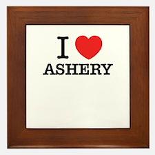 I Love ASHER Framed Tile