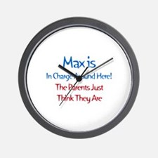 Max Is In Charge Wall Clock