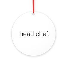 Head Chef Ornament (Round)