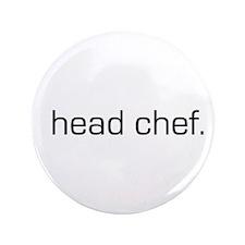 """Head Chef 3.5"""" Button"""