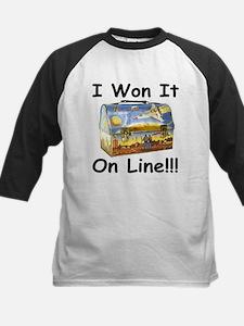 I Won It On Line Kids Baseball Jersey