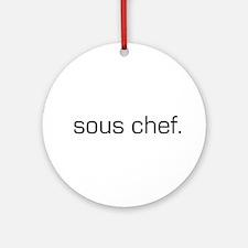 Sous Chef Ornament (Round)
