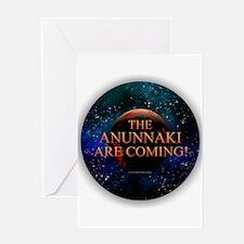 Anunnaki are Coming Greeting Cards
