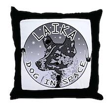 Laika: Dog in Space Throw Pillow