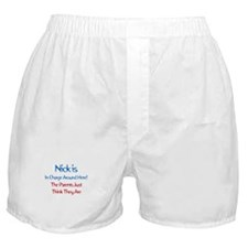 Nick Is In Charge Boxer Shorts
