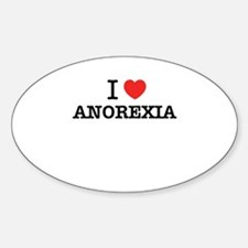 I Love ANOREXIA Decal