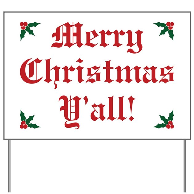 Merry christmas y all yard sign by giftcy
