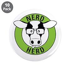 "Nerd Herd 3.5"" Button (10 pack)"