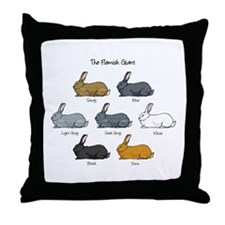 Flemish Giant Rabbit Throw Pillow