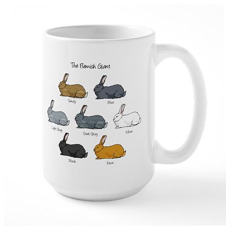 Flemish Giant Rabbit Large Mug