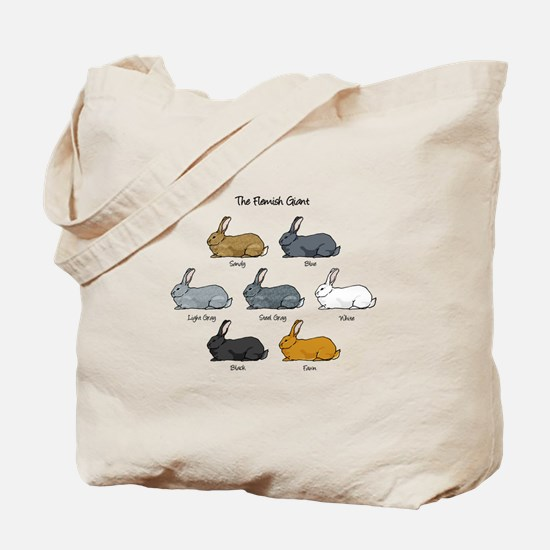 Flemish Giant Rabbit Tote Bag