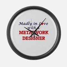 Madly in love with a Metalwork De Large Wall Clock