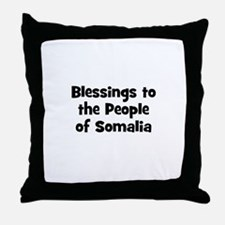 Blessings to the People of So Throw Pillow