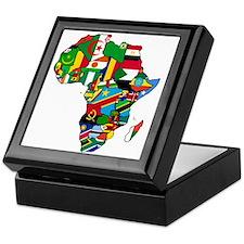 Flags of Africa Keepsake Box