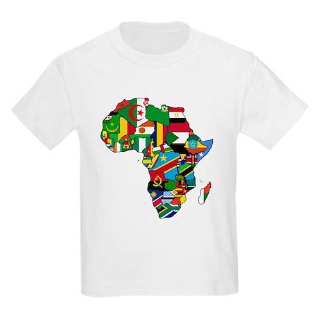 Flags of Africa Kids Light T-Shirt