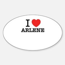 I Love ARLENE Decal