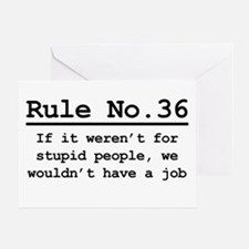Rule No. 36 Greeting Card