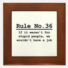 Rule No. 36 Framed Tile