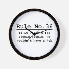 Rule No. 36 Wall Clock