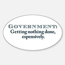 Government Oval Decal