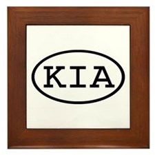 KIA Oval Framed Tile