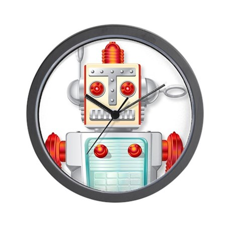 Wall Clock with Chief Robotman