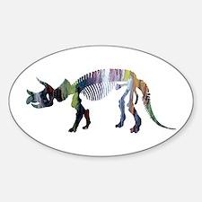 Triceratops Skeleton Decal